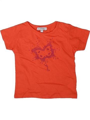 T-shirt manches courtes fille IN EXTENSO rouge 12 mois été #1342127_1