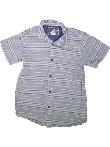 Chemise manches courtes garçon DUDES bleu 13 ans été #1343460_1