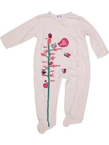 Pijama de 1 pieza niña DPAM blanco 2 años invierno #1343552_1
