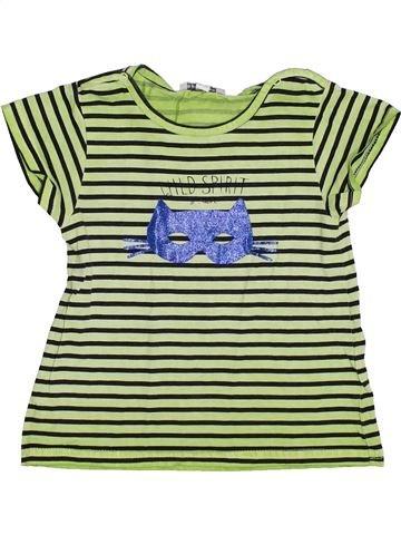 Camiseta de manga corta niña 3 POMMES verde 3 años verano #1343794_1