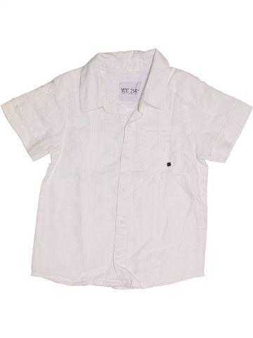 Chemise manches courtes garçon YCC-214 blanc 3 ans été #1344099_1