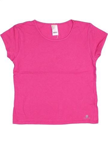 Camiseta de manga corta niña DOMYOS rosa 8 años verano #1344161_1