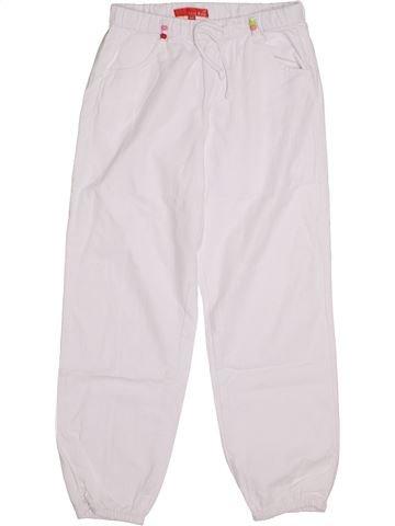 Pantalon fille LISA ROSE blanc 8 ans été #1344172_1