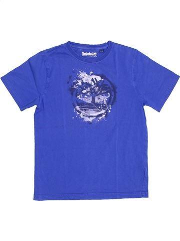 T-shirt manches courtes garçon TIMBERLAND bleu 8 ans été #1344493_1