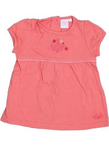 T-shirt manches courtes fille CADET ROUSSELLE rose 2 ans été #1344664_1