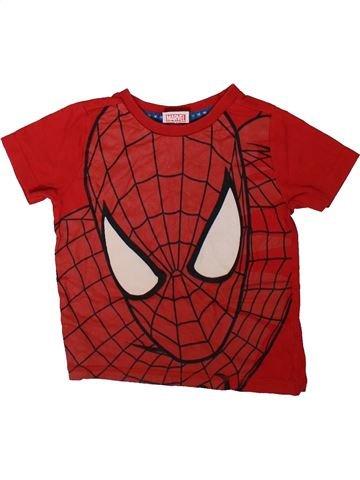 T-shirt manches courtes garçon SUPERS HÉROS rouge 2 ans été #1344825_1