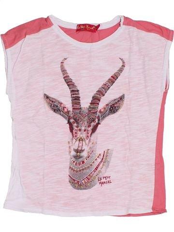 T-shirt manches courtes fille LE PETIT MARCEL blanc 8 ans été #1345005_1
