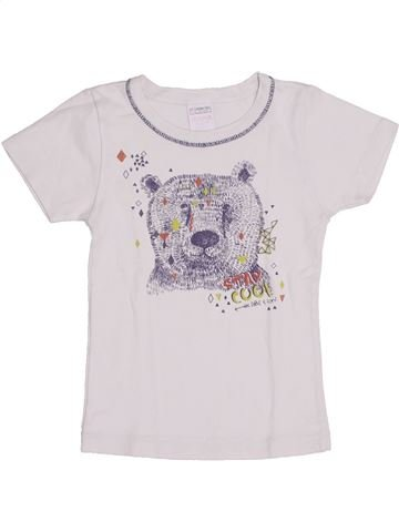 T-shirt manches courtes garçon ABSORBA blanc 4 ans été #1345044_1