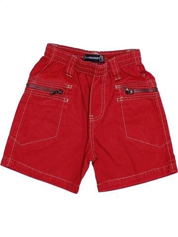 Short-Bermudas niño JEAN BOURGET rojo 6 meses verano #1345721_1