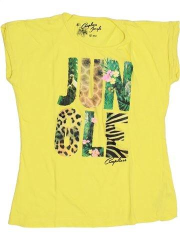 T-shirt manches courtes fille COMPLICES jaune 12 ans été #1345743_1