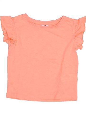 T-shirt manches courtes fille TAPE À L'OEIL beige 2 ans été #1346674_1