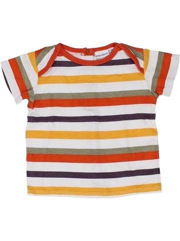 T-shirt manches courtes garçon P'TIT BISOU marron 3 mois été #1346714_1