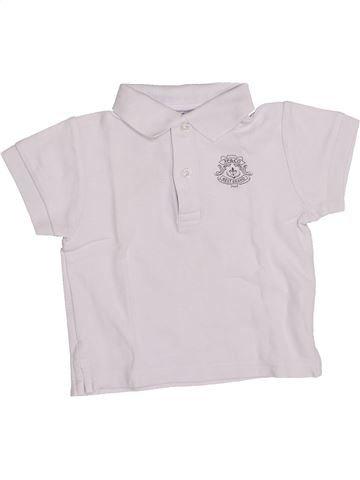 Polo de manga corta niño 3 POMMES blanco 18 meses verano #1346960_1