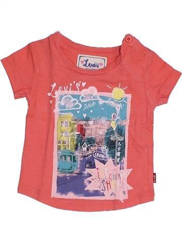 T-shirt manches courtes fille LEVI'S rose 3 mois été #1347089_1