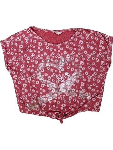 T-shirt manches courtes fille KYLIE violet 13 ans été #1347294_1