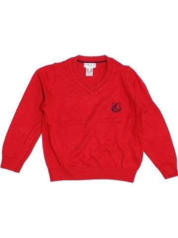 jersey niño CYRILLUS rojo 3 años invierno #1347504_1