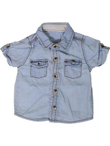 Chemise manches courtes garçon GEORGE bleu 3 mois été #1347857_1