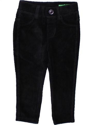 Pantalón niño BENETTON negro 12 meses invierno #1348342_1