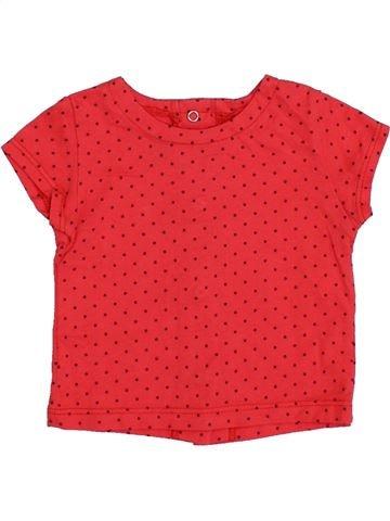 Camiseta de manga corta niña LES BEBES SONT COMME ÇA rojo 3 meses verano #1348527_1