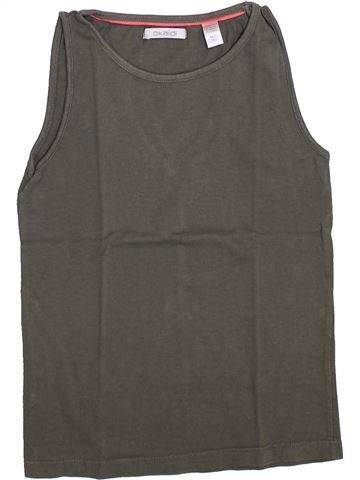 T-shirt sans manches fille OKAIDI gris 8 ans été #1348708_1