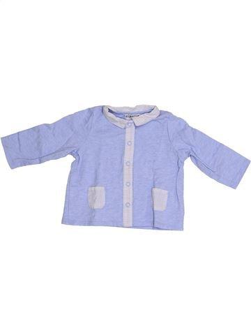 Chemise manches longues garçon CYRILLUS violet 6 mois hiver #1349127_1