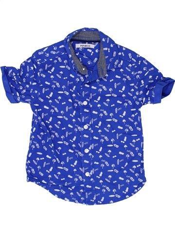 Chemise manches courtes garçon PEP&CO bleu 2 ans été #1349379_1