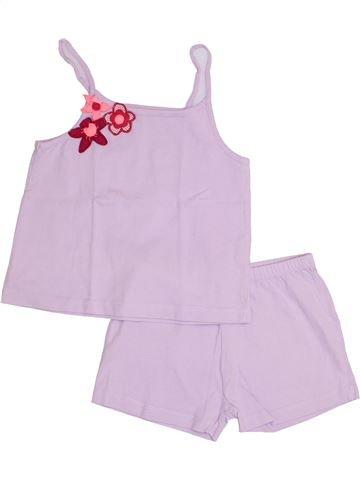 Pijama de 2 piezas niña DPAM rosa 4 años verano #1349398_1