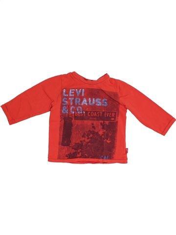 T-shirt manches longues garçon LEVI'S rouge 2 ans hiver #1349482_1