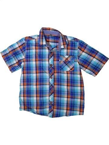 Chemise manches courtes garçon BAKER bleu 10 ans été #1349748_1