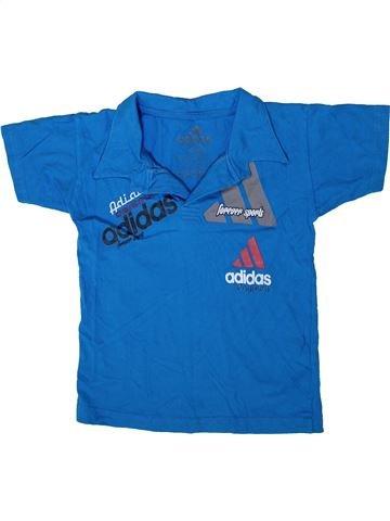 Polo de manga corta niño ADIDAS azul 10 años verano #1349965_1