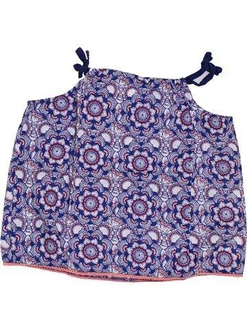 Blusa de manga corta niña GEMO azul 4 años verano #1349984_1