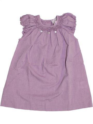 Robe fille CYRILLUS violet 12 mois été #1350113_1