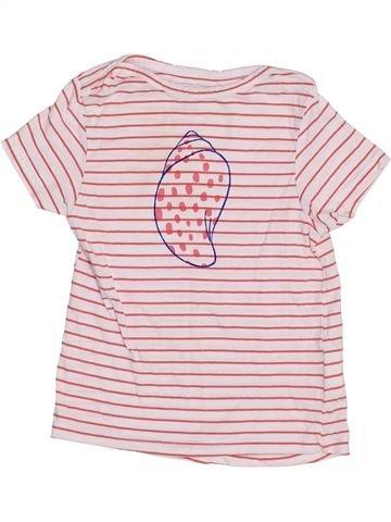 T-shirt manches courtes fille CADET ROUSSELLE rose 3 ans été #1350800_1