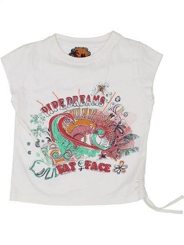T-shirt manches courtes fille FAT FACE blanc 3 ans été #1350997_1