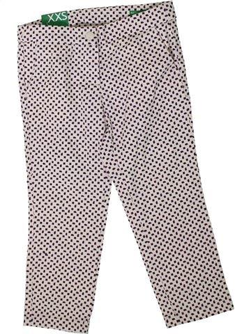 Pantalón corto niña BENETTON blanco 4 años verano #1351175_1