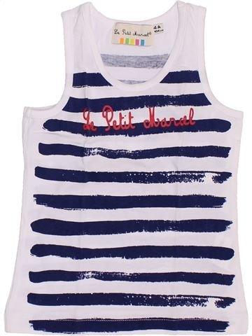 T-shirt sans manches fille LE PETIT MARCEL blanc 4 ans été #1351441_1