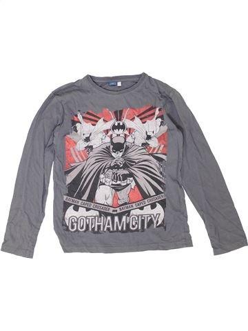 T-shirt manches longues garçon SUPERS HÉROS gris 10 ans hiver #1351800_1