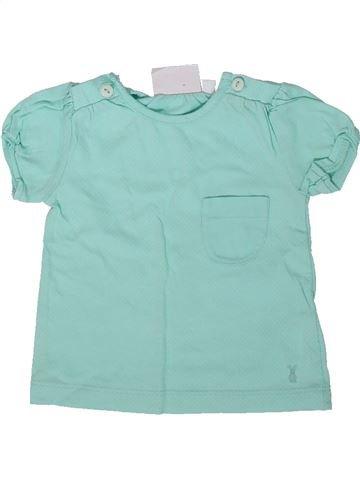T-shirt manches courtes fille MON COEUR bleu 3 mois été #1352201_1
