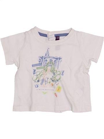 T-shirt manches courtes garçon SERGENT MAJOR blanc 3 mois été #1352239_1