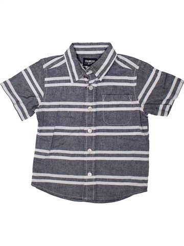 Chemise manches courtes garçon OSH KOCH B'GOSH bleu 2 ans été #1352864_1