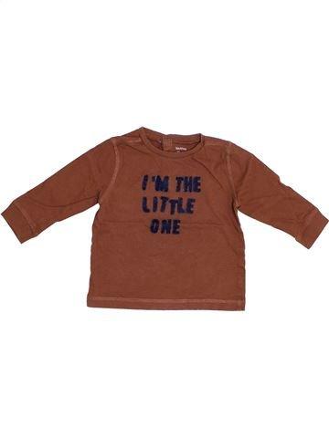 T-shirt manches longues garçon BOUT'CHOU marron 12 mois hiver #1353067_1
