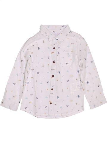 Chemise manches longues garçon CADET ROUSSELLE blanc 4 ans hiver #1353313_1