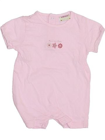 Combinación corta niña AUBISOU rosa 3 meses verano #1353597_1