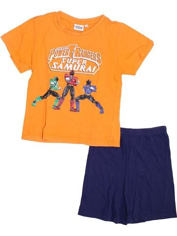 Pyjama 2 pièces garçon SUPERS HÉROS orange 5 ans été #1353987_1