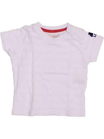 T-shirt manches courtes garçon LULU CASTAGNETTE blanc 3 mois été #1353997_1