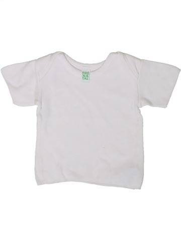 T-shirt manches courtes garçon PRENATAL blanc 3 mois été #1355934_1