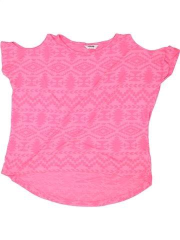 T-shirt manches courtes fille TAMMY rose 13 ans été #1356109_1