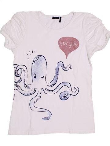 T-shirt manches courtes fille IKKS blanc 12 ans été #1356122_1