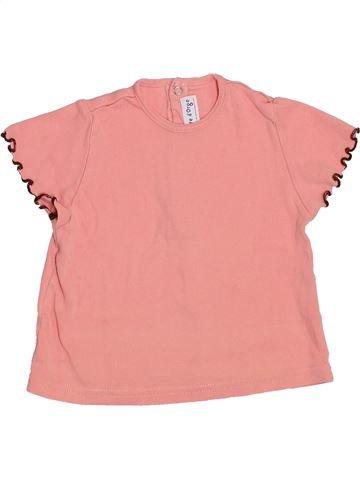 T-shirt manches courtes fille SUCRE D'ORGE rose 18 mois été #1356491_1