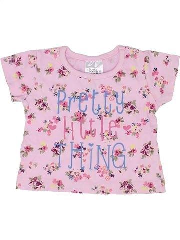 T-shirt manches courtes fille BABY rose 3 mois été #1356842_1